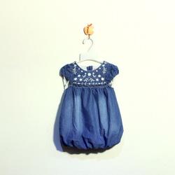 ?nh s? 6: Váy bò bé gái quả bí màu xanh đậm - Giá: 1.000
