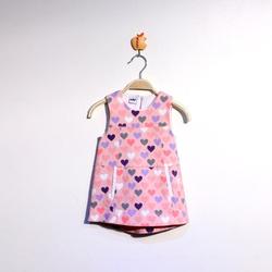 Ảnh số 17: Váy kaki bé gái tim màu hồng - Giá: 1.000