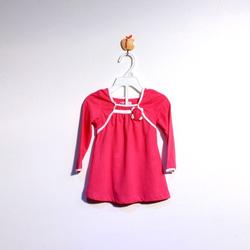 ?nh s? 20: Áo cotton bé gái chun ngực màu hồng đậm - Giá: 1.000