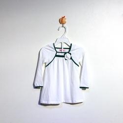 ?nh s? 21: Áo cotton bé gái chun ngực màu trắng - Giá: 1.000