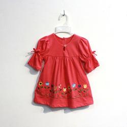 ?nh s? 22: Áo cotton bé gái chun tay buộc nơ màu hồng - Giá: 1.000