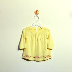 ?nh s? 24: Áo cotton bé gái màu vàng - Giá: 1.000