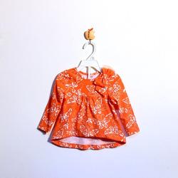 ?nh s? 28: Áo váy bé gái cotton nơ vai hoa cam - Giá: 1.000