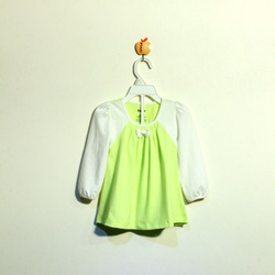 ?nh s? 29: Áo váy bé gái Toby nơ màu xanh chuối - Giá: 1.000