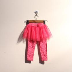 ?nh s? 42: Quần legging bé gái bèo lưới màu hồng sao - Giá: 1.000