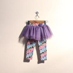 ?nh s? 43: Quần legging bé gái bèo lưới màu tím - Giá: 1.000