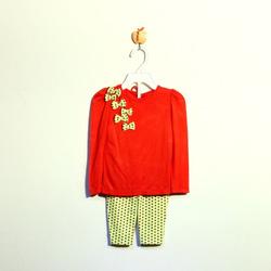 ?nh s? 49: Bộ cotton bé gái chấm bi đỏ - Giá: 1.000