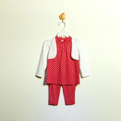 ?nh s? 51: Bộ cotton bé gái chấm bi hồng - Giá: 1.000