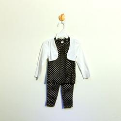 ?nh s? 52: Bộ cotton bé gái chấm bi tím than - Giá: 1.000