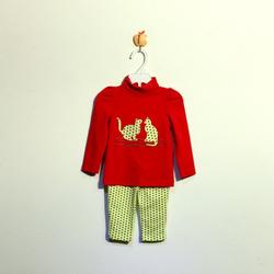 ?nh s? 54: Bộ cotton bé gái màu đỏ - Giá: 1.000