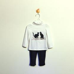 ?nh s? 55: Bộ cotton bé gái màu trắng - Giá: 1.000