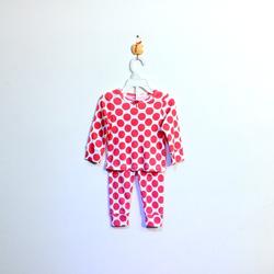?nh s? 56: Bộ cotton bé gái chấm bi đỏ - Giá: 1.000