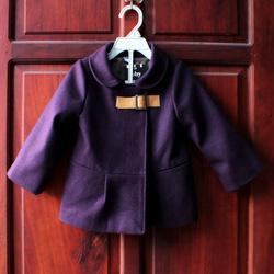?nh s? 64: Áo khoác dạ ép bé gái dây da cổ màu tím nhạt - Giá: 1.000