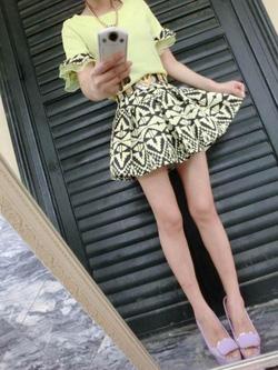 Ảnh số 31: Bộ rời: Áo voan và chân váy họa tiết - Giá: 225.000
