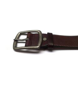 Ảnh số 7: Thắt lưng nam da nguyên miếng màu nâu trẻ trung T853 - Giá: 350.000