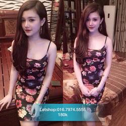 Ảnh số 71: Váy hoa 2 dây co giãn - Giá: 180.000