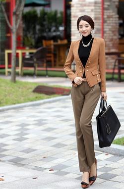 Áo vest công sở , bộ vest thời trang thu đông 2014 với