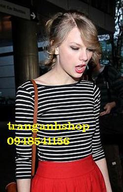 Ảnh số 11: áo kẻ croptop - Giá: 135.000