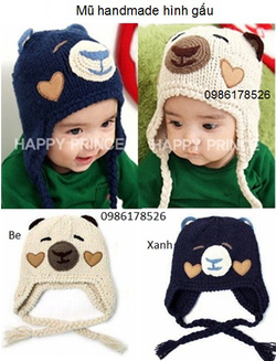 Ảnh số 34: Mũ len handmade hình gấu, freesize từ 4th-12th - Giá: 85.000