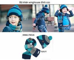 Ảnh số 42: Bộ khăn mũ đính khuy, freesize từ 1t-3t - Giá: 120.000