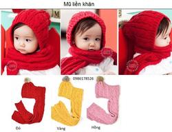 Ảnh số 43: Mũ liền khăn, freesize từ 1,5t trở lên, các bé lớn cũng vừa - Giá: 110.000