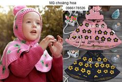 Ảnh số 48: Mũ choàng hoa, cực dầy, freesize từ 2t-5t - Giá: 140.000
