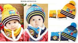 Ảnh số 52: Bộ khăn mũ len hình ô tô, bên trong lót lông, freesize từ 1t-2,5t - Giá: 130.000