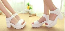 Ảnh số 65: Giày sandals chunky quai ngang dây dán - 280k - Giá: 280.000