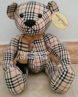 Ảnh số 88: teddy vải kẻ buberry - Giá: 130.000
