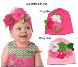 Ảnh số 26: Mũ cotton gắn hoa, freesize từ 1t-2,5t - Giá: 75.000