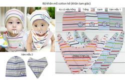 Ảnh số 29: Bộ cotton kẻ kiểu khăn tam giác, freesize từ 10th-24th - Giá: 85.000