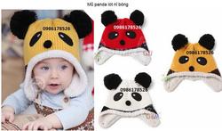 Ảnh số 56: Mũ panda lót nỉ, 1t-3t - Giá: 70.000