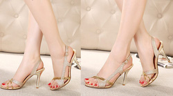 ?nh s? 64: Giày cao gót ánh kim tuyến quai hậu - 360k - Giá: 360.000
