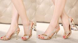 Ảnh số 64: Giày cao gót ánh kim tuyến quai hậu - 360k - Giá: 360.000