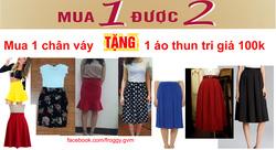 Ảnh số 1: KM T9/2014: Mua 1 chân váy từ 220k trở lên tặng 1 áo thun trị giá 100k - Giá: 100.000