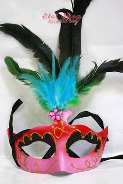 Ảnh số 10: Mặt nạ lông vũ HL15 hồng - Giá: 80.000