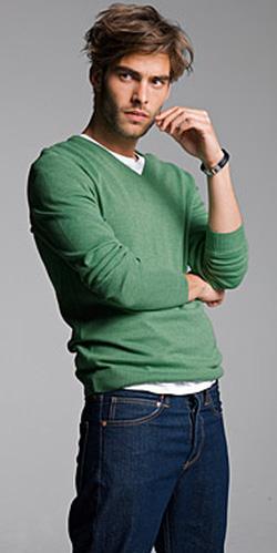 Ảnh số 12: N2.Len nam H&M, size M màu xanh lá cây - 580k - Giá: 580.000