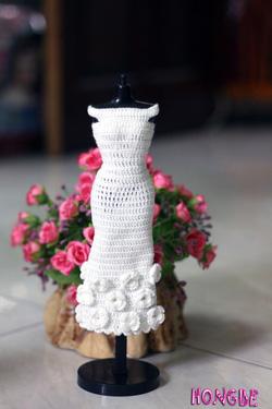 Ảnh số 6: M03 - Váy trắng đính hoa - Giá: 80.000