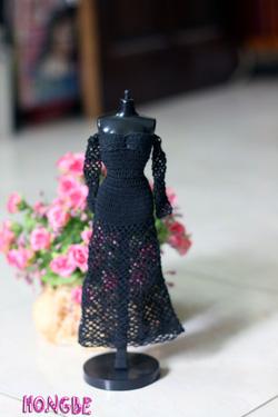 Ảnh số 21: M11 - Váy dạ hội đen có tay - Giá: 120.000