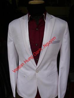 Ảnh số 74: vest trắng bổ ve pha - Giá: 2.200.000