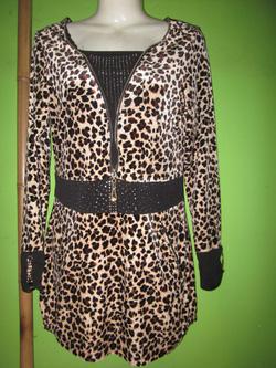 Ảnh số 76: áo váy nhung mịn da báo - Giá: 450.000