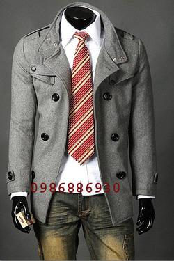 Ảnh số 13: áo choàng dạ nam - Giá: 1.400.000