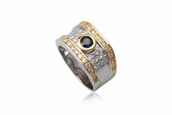 Ảnh số 5: TrangsucLUNA Nhẫn nam đính kim cương nhân tạo xi phủ vàng trắng vàng tây 18k - Giá: 1.290.000