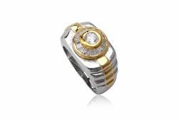 Ảnh số 9: TrangsucLUNA Nhẫn nam đính kim cương nhân tạo xi phủ vàng trắng vàng tây 18k - Giá: 1.490.000