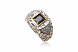 Ảnh số 12: TrangsucLUNA Nhẫn nam đính kim cương nhân tạo xi phủ vàng trắng vàng tây 18k - Giá: 1.190.000