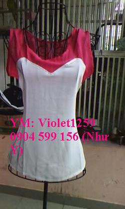Ảnh số 38: Áo cúp 2 màu tay ngắn Hồng trắng 150k - Giá: 150.000