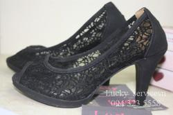 Ảnh số 44: giày cao gót ren - Giá: 195.000