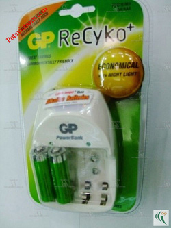 Ảnh số 14: Bộ, máy điện sạc pin chậm theo tiêu chuẩn, hỗn hợp cho pin tiểu AA, pin đũa AAA 1.5V & pin vuông 9V GP-PB11GS210-2UW2, kèm 02 viên pin sạc AA - Giá: 290.000