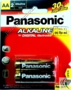 Ảnh số 55: Pin tiểu AA, Pin thông dụng, Pin Alkaline Kiềm, Pin 1.5V, Pin Panasonic LR6T/2B (1 vỉ/ 2 viên pin) - Giá: 23.000