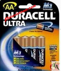 Ảnh số 66: Pin đũa AAA, Pin Kiềm Alkaline, Pin cao cấp cho máy ảnh-máy quay, Pin 1.5V, Pin Duracell Ultra MX2400/B4 (1 vỉ/4 Viên pin) - Giá: 75.000
